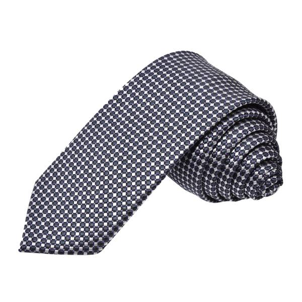 GREY DOTS COTTON TIE