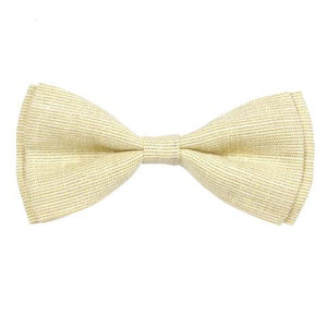 COTTON YELLOW CHAMBRAY BOW TIE