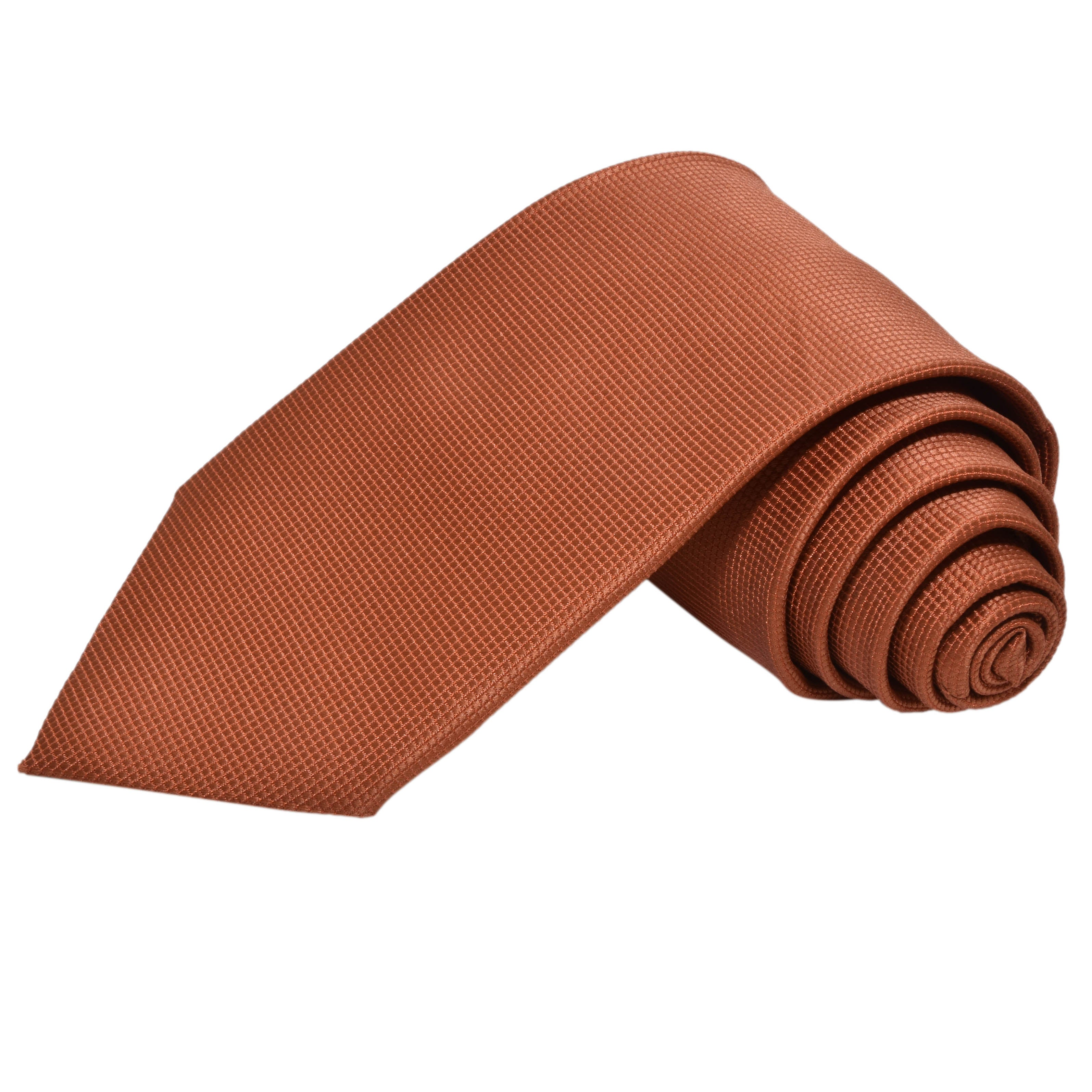 CINNAMON BROWN SOLID TIE