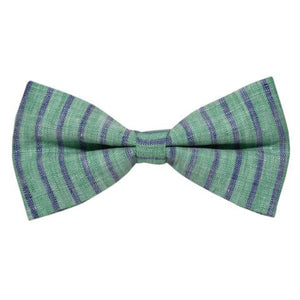STRIPED OLIVE GREEN BOW TIE