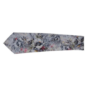 GREY SMALL FLOWER FLORAL SKETCH TIE