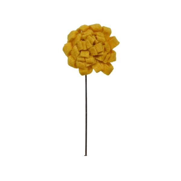 MUSTARD YELLOW ROUND SHAPE BROOCH