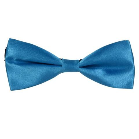 SOLID TEAL GREEN MINI BOW TIE