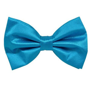 PLAIN SOLID AIR FORCE BLUE BOW TIE