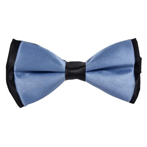 COTTON SUMMER SKY BLUE BOW TIE