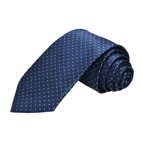 FRENCH BLUE POLKA DOTS COTTON TIE