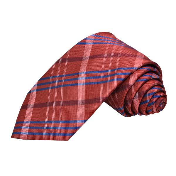 RASPBERRY PINK THICK TRENDY STRIPE TIE