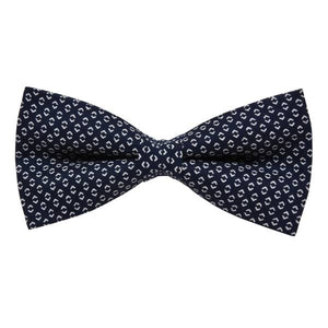 VINTAGE BLUE TINY DOTS BOW TIE