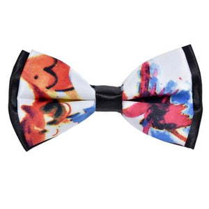 COLORFUL MOSAIC TILE PATCHWORK BOW TIE