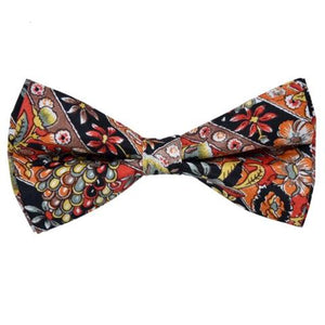 COLOURFUL BLACK MULTI REEF PRINT BOW TIE