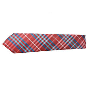 RED AND BLUE CHUNKY STRIPE TIE