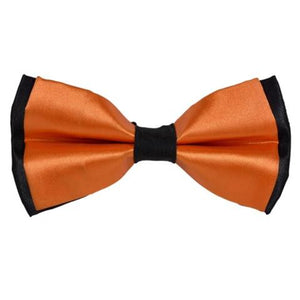 PLAIN SOLID PEACH BOW TIE