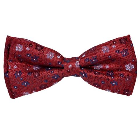 MAROON BURGUNDY FLORAL WEDDING BOW TIE