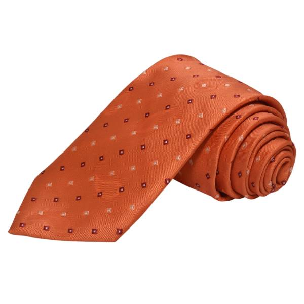 CARROT ORANGE DOTTED FORMAL TIE