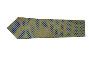 GREEN POLKA DOTS COTTON TIE