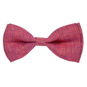 COTTON DARK PEACH CHAMBRAY BOW TIE