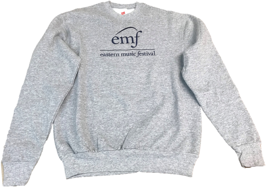 EMF Grey Embroidered Sweatshirts<BR>