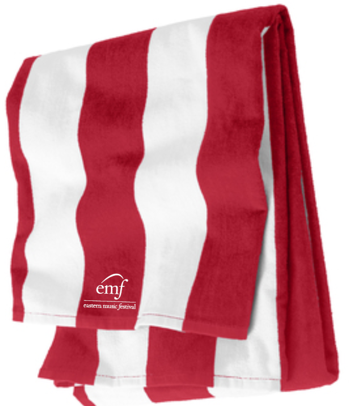 EMF Cabana Red/White Beach Towel <BR>