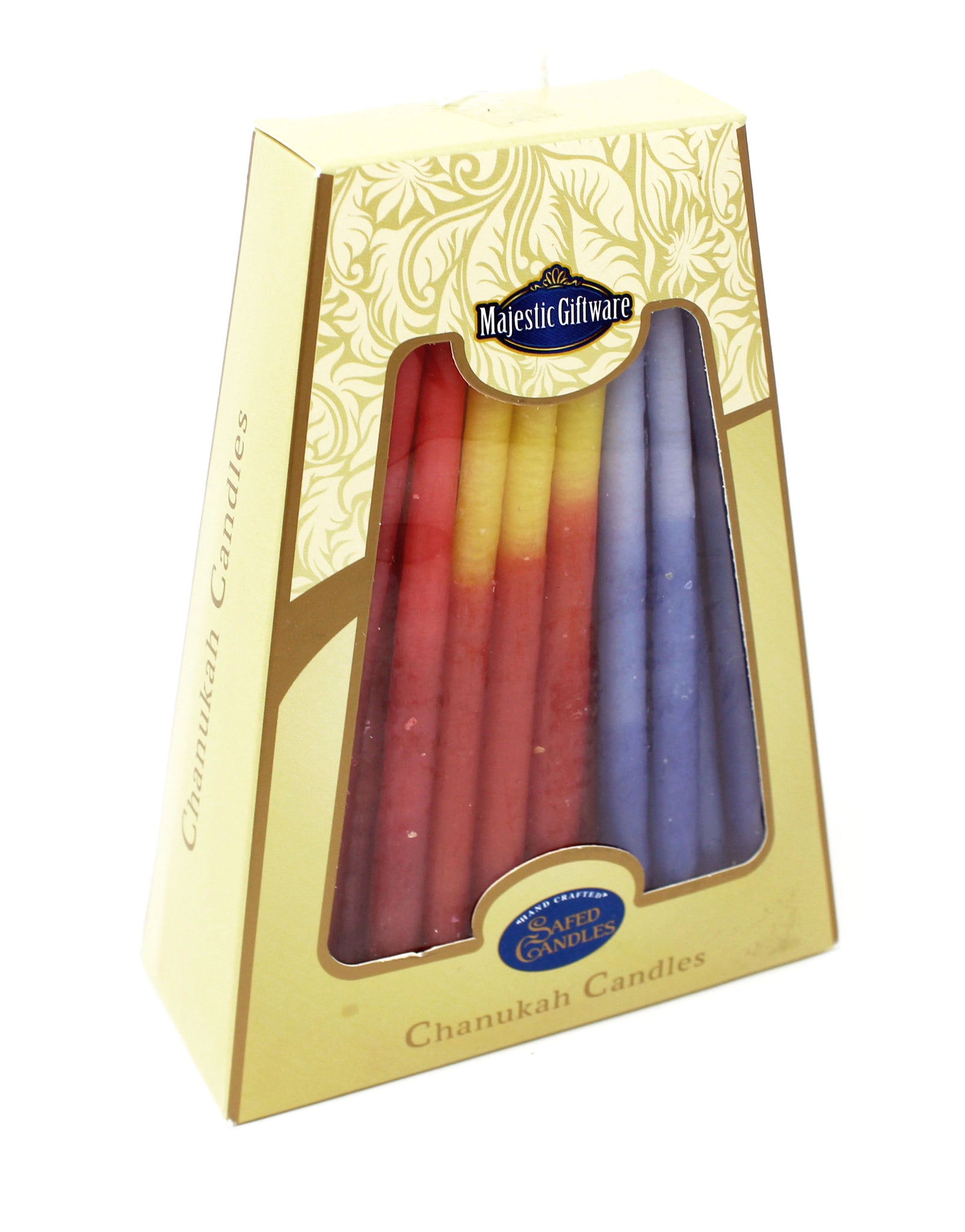 Safed Multicolored Chanukah Candles