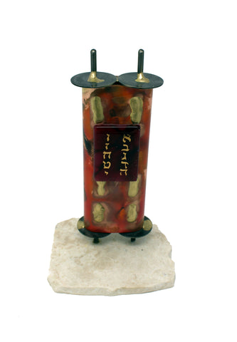 Large Torah on Marble with Glass by Gary Rosenthal