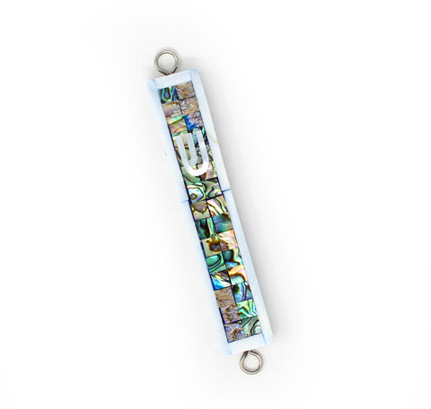 Paua Abalone Mezuzah with Mother of Pearl
