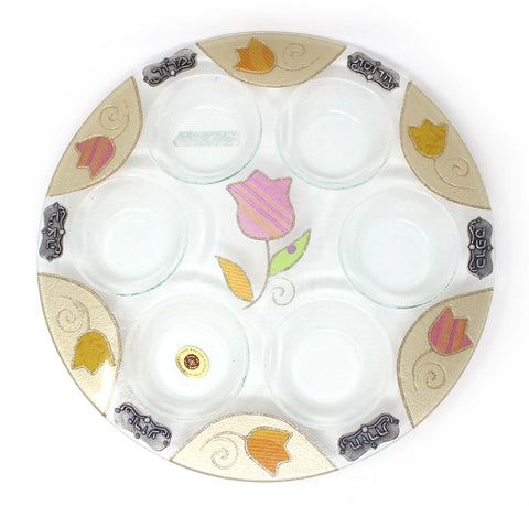 Golden Tulips Seder Plate