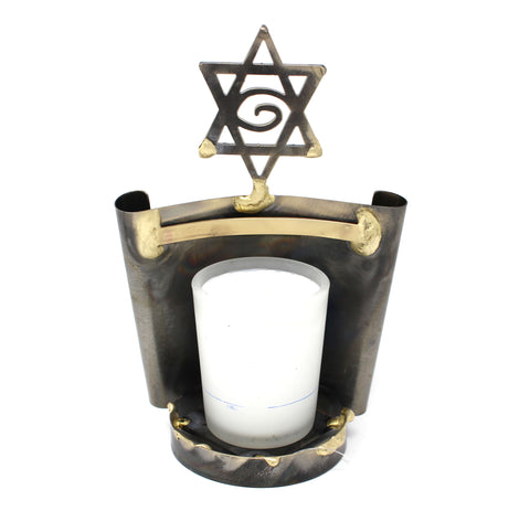 Rosenthal Scrolled Yahrzeit Candle Holder
