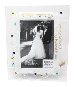 Geo Wedding Picture Frame with Shards Tube by Beames Designs