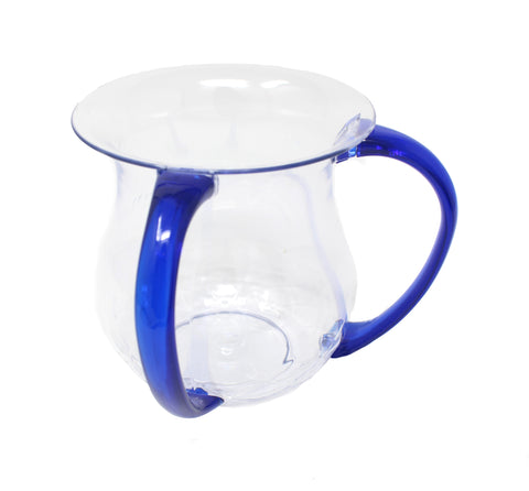 Karshi Clear Washing Cup with Blue Handles