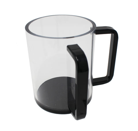 Lucite Wash Cup with Black Handles