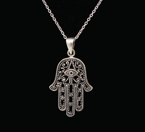 Medium Hamsa with Eye Necklace