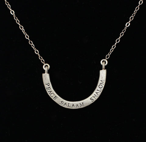 Peace, Salaam, Shalom Necklace