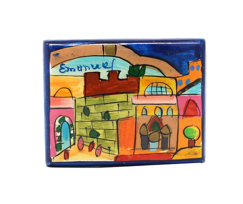 Match Box Holder-Jerusalem Blue
