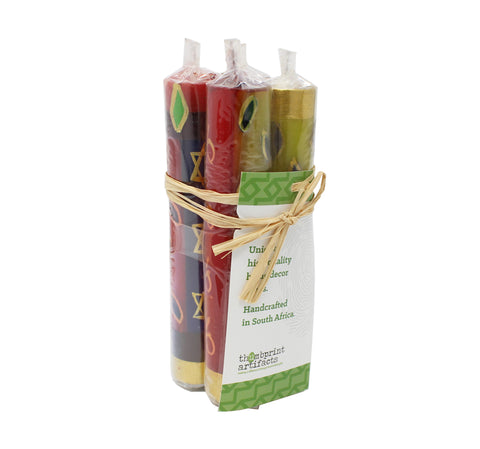 "Judaica 4"" Taper Candles, Set of 4"