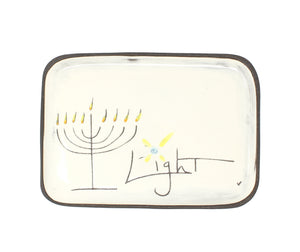 Chanukah Light Small Rectangle Plate by ZPOTS