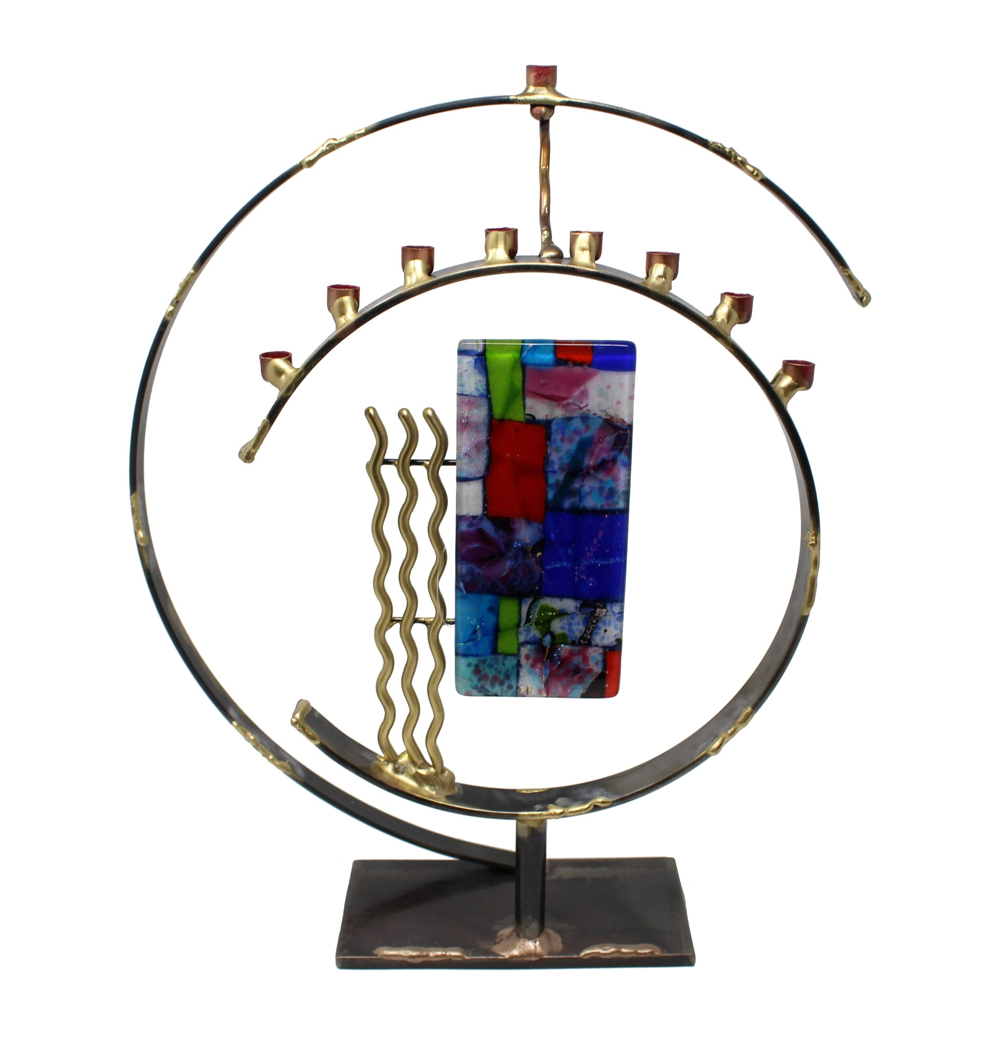 Circular Art Deco Menorah by Gary Rosenthal