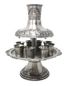 Pewter Kiddush Fountain