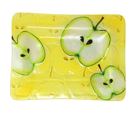 Apples Glass Platter Rectangle