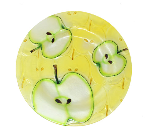 Glass Apple Plate Round