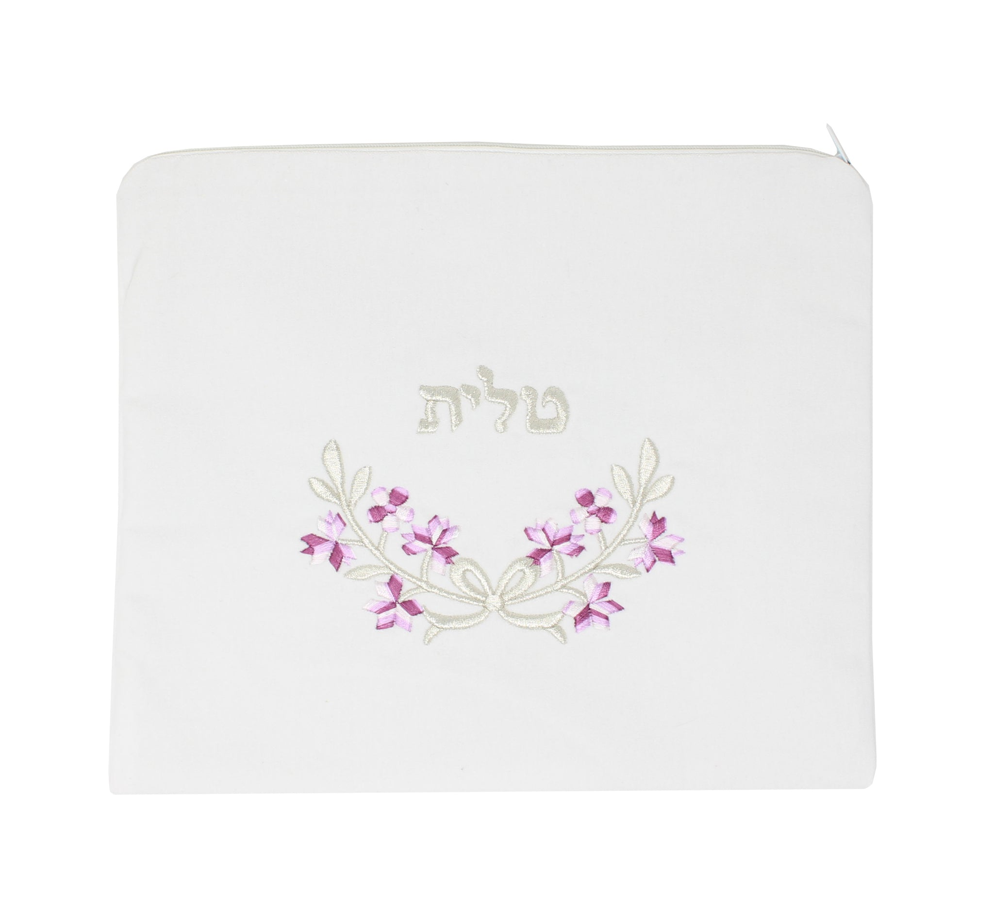 White Velvet Tallit Bag