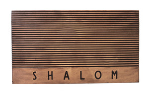 Shalom Stripes Welcome Mat