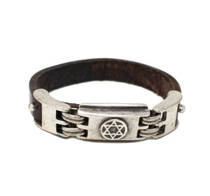 Leather Bracelet with Star