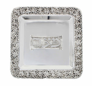 Silver-plated Matzah Tray