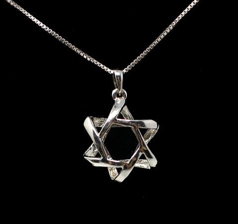 3D Star of David Necklace