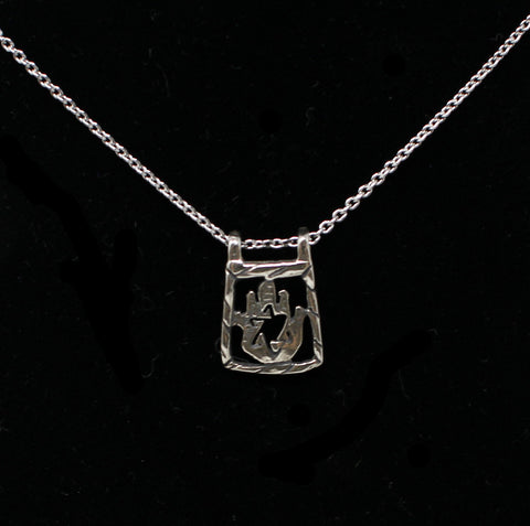 Sterling Silver Hamsa with Star Necklace