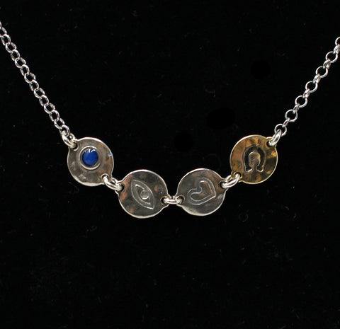 Four Lucky Disks Necklace