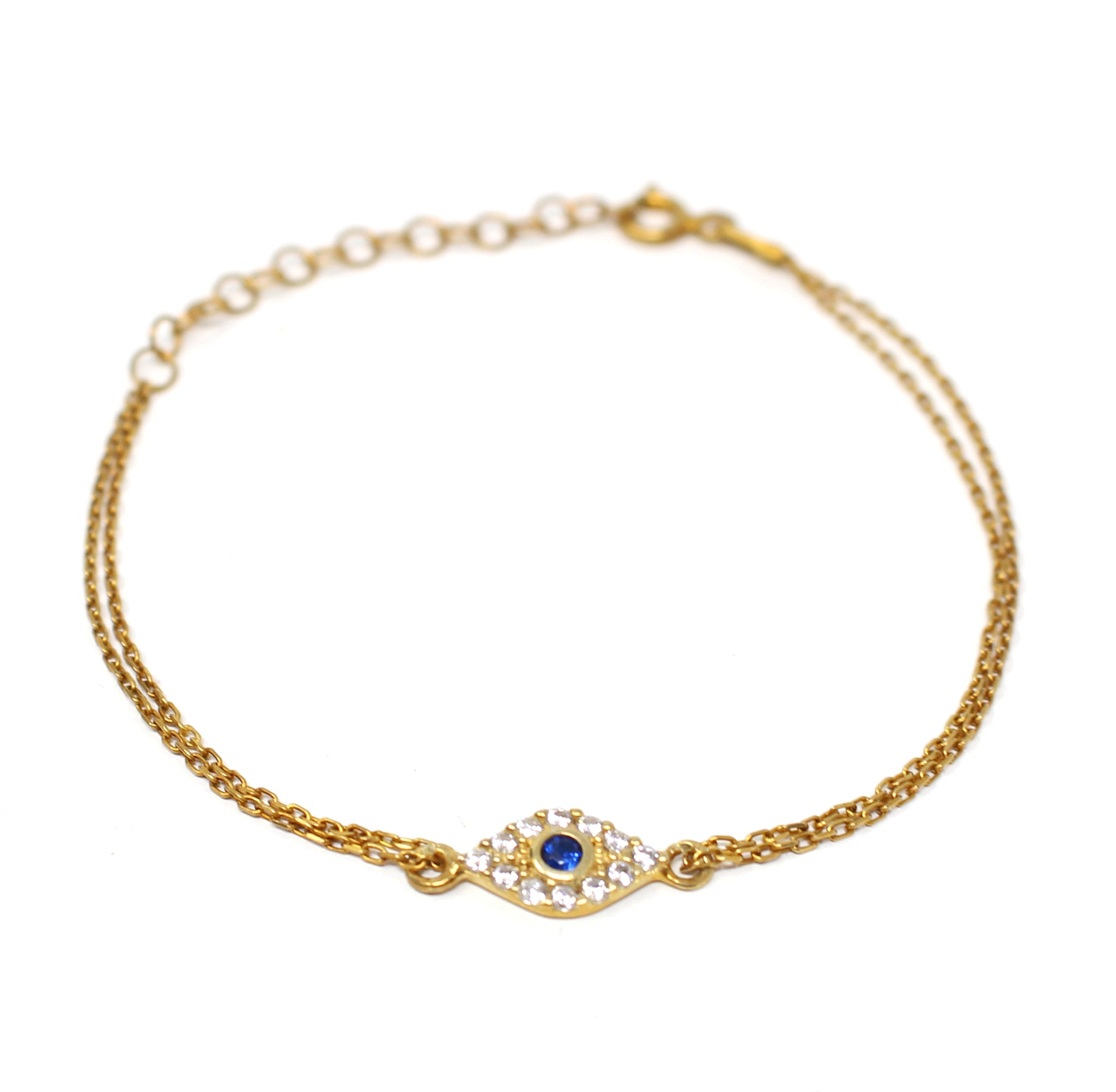 Golden Double Chain Eye Bracelet