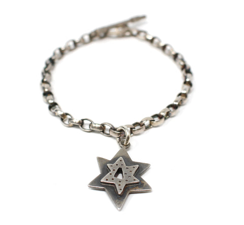 Pewter Star Bracelet