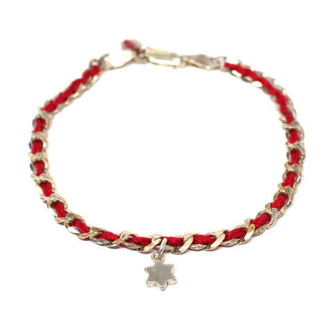 Sterling Silver Red Bendel With Star