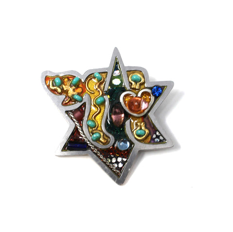 Star of David and Chai Pin